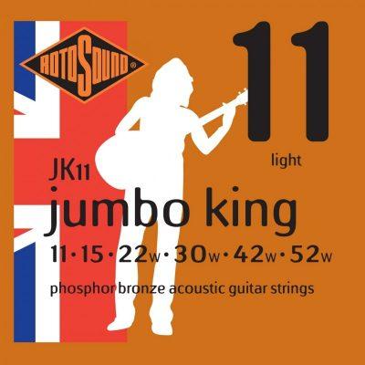 Rotosound JK11 Jumbo King Phosphor Bronze 11-52